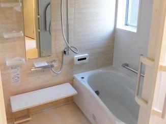 バスルームリフォーム バリアフリーで暖かい、老後も安心な浴室