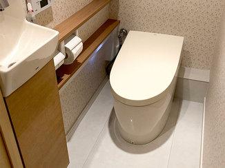 トイレリフォーム きれいな空間がいつまでも続く清掃性の高いトイレ