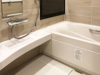 バスルームリフォーム テレビとジェットバスが楽しめる高級感のある浴室