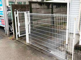 エクステリアリフォームスピード施工でしっかり丈夫な門扉付きフェンス