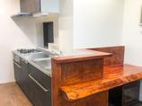 キッチンリフォームL型からI型へ変え、使い勝手の良くなった明るいキッチン